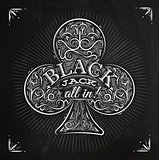Clubs black jack chalk