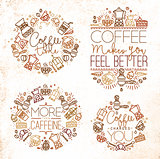 Coffee monograms brown