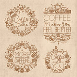 Coffee monograms kraft