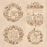 Coffee monograms kraft