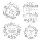 Coffee monograms grey