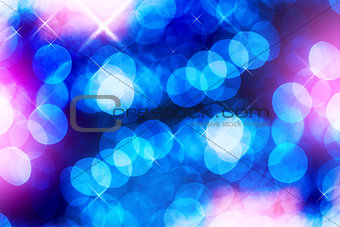 Abstract bokeh and star sprakles