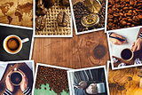 Coffee photo collage