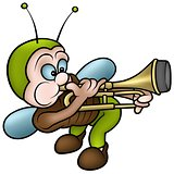 Bug Playing a Trombone