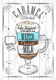 Poster caramel macchiato