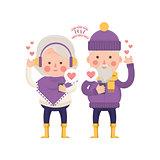 Lovely Senior Couple Sending Love for Valentine