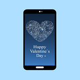 Happy Valentines day smartphone screen app