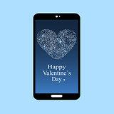 Happy Valentines day smartphone screen app