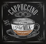 Poster cappuccino chalk