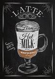 Poster latte chalk