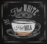 Poster flat white chalk