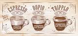 Poster espresso chalk