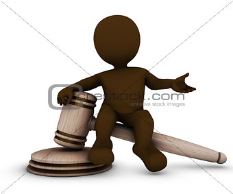 3D Morph Man with gavel