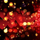 Valentine's Day bokeh lights background