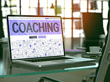 Coaching - Concept on Laptop Screen.