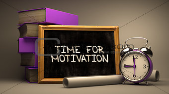Time for Motivation Concept Hand Drawn on Chalkboard.