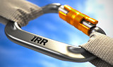 Chrome Carabiner Hook with Text IRR.