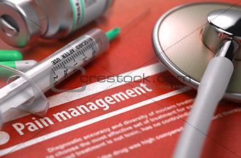 Pain Management. Medical Concept.