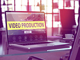 Video Production Concept on Laptop Screen.