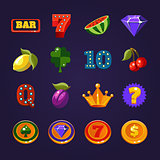 Vector Slot Machine Symbols Set