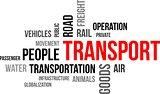 word cloud - transport