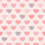 distorted hearts pattern