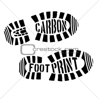 Carbon Footprint Shoeprints