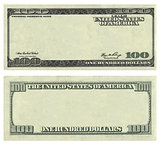 Clear 100 USA dollar banknote pattern