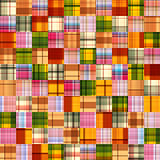 Seamless background with fabric patterns