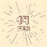 Vector handdrawn background for Saint Valentines day