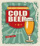 Poster retro beer