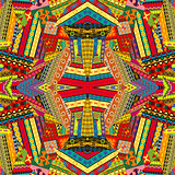 Colorful ethnic patchwork design