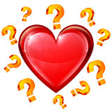 Heart and Question Signs