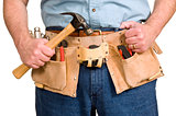 Tool Belt On A Worker