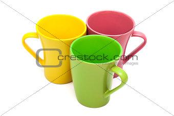 Three coffee cups