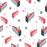 Delicious food seamless background pattern cake dessert