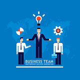 Business team Businessman successful teamwork