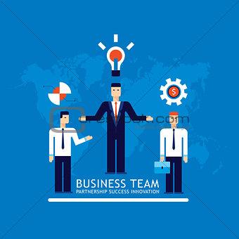 Business team Businessman successful teamwork