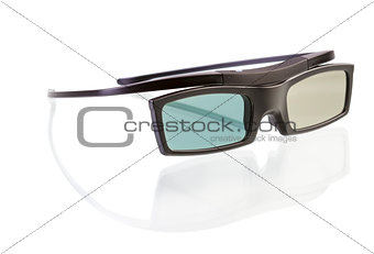 3d glasses on white