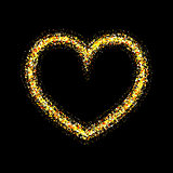 Vector gold shiny heart
