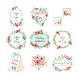 Floral Vintage Illustrations for Cards and Decor. Vector Set