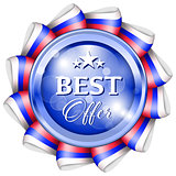 Blue best offer badge