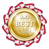 Blue best offer badge