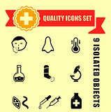 quality medical illness icons
