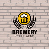 Brewery Logo. Vector Illustration