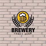Brewery Logo. Vector Illustration