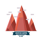 Majestic mountain peak vector illustration