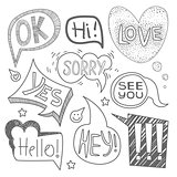 Speech Bubble Collection. Monochrome Vector Set