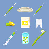 Dentist Icons and Teeth Care Set