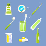 Dentist Icons and Teeth Care Collection